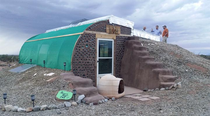 Earthship Inspired Tiny Home Constructed By Foxhole Homes