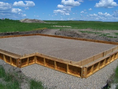 Foundation pictures of a house