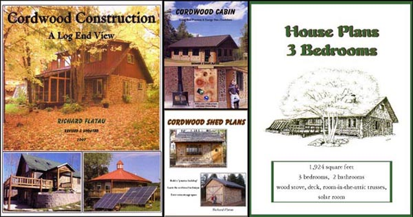 Attractive Cordwood Construction Books By Richard Flatau.