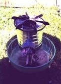 Metal rocket stove